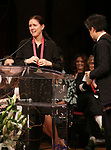 Julie Taymor and David Henry Hwang on stage at the The Lilly Awards  at Playwrights Horizons on May 22, 2017 in New York City.