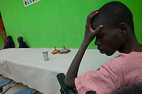 Port Au Prince, Haiti, Jan 25 2010.Jean-Pierre Balaguel, 14. Everyday, the UN World Food Programme dispatches food and supplies to tens of thousands beneficiaries such as the orfans from  the Centre d'action pour le Développement.