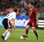 08 July 2006: Simao Sabrosa (POR) (11) steps over the ball. Germany defeated Portugal 3-1 at the Gottlieb-Daimler Stadion in Stuttgart, Germany in match 63, the third-place game, of the 2006 FIFA World Cup.