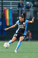 Allston, MA - Saturday, May 07, 2016: Chicago Red Stars forward Christen Press (23) during a regular season National Women's Soccer League (NWSL) match at Jordan Field.