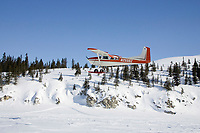 Iditarod Airforce pilot Bruce Moroney landing @ White Mtn w/Race Marshal Mark Nordman 2006 Iditarod