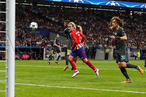 27th September 2017, Wanda Metropolitano, Madrid, Spain; UEFA Champions League, Atletico Madrid versus Chelsea; Antonie Griezmann (7) Atletico de Madrid
