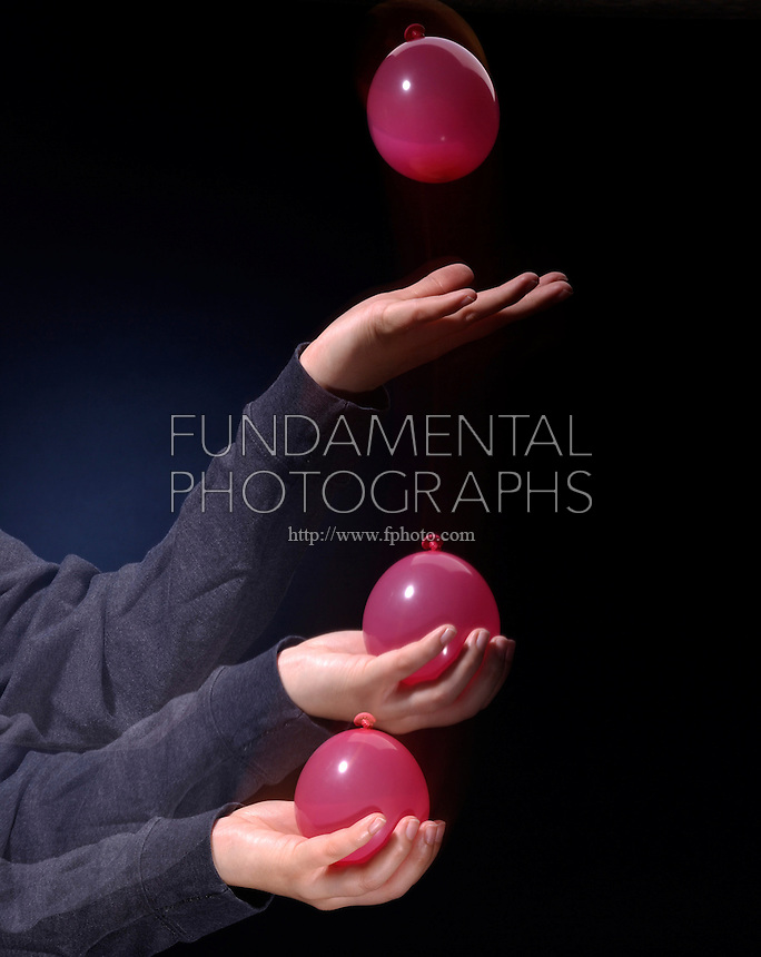 WATER BALLOON CATCH- IMPULSE MOMENTUM THEORY<br /> Slowing a Fast Moving Object<br /> Pulling your  arm in as you catch the balloon will lengthen the collision time and reduce the force on the balloon to prevent bursting it. If the duration of collision is increased, the force of impact is decreased