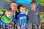 Oliver McElligott pictured here in Dromclough NS with Rory, Eoin and Cathal, under new proposals Rory will have to travel to a different school to avail of the governments rural transport scheme.