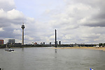 The River Rhine flows through Dusseldorf host city for the 104th edition of the Tour de France 2017, Dusseldorf, Germany. 30th June 2017.<br /> Picture: Eoin Clarke | Cyclefile<br /> <br /> All photos usage must carry mandatory copyright credit (&copy; Cyclefile | Eoin Clarke)