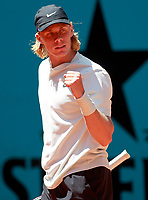 Denis Shapovalov, Canada, during Madrid Open Tennis 2018 match. May 10, 2018.(ALTERPHOTOS/Acero) /NORTEPHOTOMEXICO
