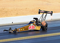 Jul 29, 2017; Sonoma, CA, USA; NHRA top fuel driver Leah Pritchett during qualifying for the Sonoma Nationals at Sonoma Raceway. Mandatory Credit: Mark J. Rebilas-USA TODAY Sports