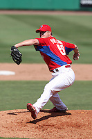 Philadelphia Phillies pitcher Jonathan Papelbon #58 delivers a pitch during a spring training game against the Houston Astros at Bright House Field on March 7, 2012 in Clearwater, Florida.  (Mike Janes/Four Seam Images)