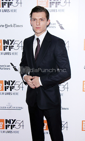 NEW YORK, NY-October 15:Tom Holland at NYFF54 Closing Night Gala and World Premiere Presentation of The Lost City of Z at Lincoln Center Alice Tully Hall in New York.October 15, 2016. Credit:RW/MediaPunch