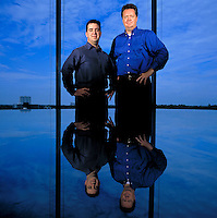 Ken Rubeli, Executive VP and Eric Melvin, CEO, Mobius Risk Group. Houston, TX<br /> Photo by Chris Covatta
