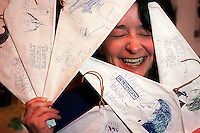 Rachel Dratch shows some characature hangers