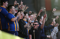 Shrewsbury Town fans in fine voice ahead of kick-off during Charlton Athletic vs Shrewsbury Town, Sky Bet EFL League 1 Play-Off Football at The Valley on 10th May 2018