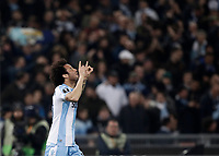 Europa League quarter-final 1st leg <br /> S.S. Lazio - FC Salzburg  Olympic Stadium Rome, April 5, 2018.<br /> Lazio's Felipe Anderson celebrates after scoring during the Europa League match between Lazio and Salzburg at Rome's Olympic stadium, April 5, 2018.<br /> UPDATE IMAGES PRESS/Isabella Bonotto