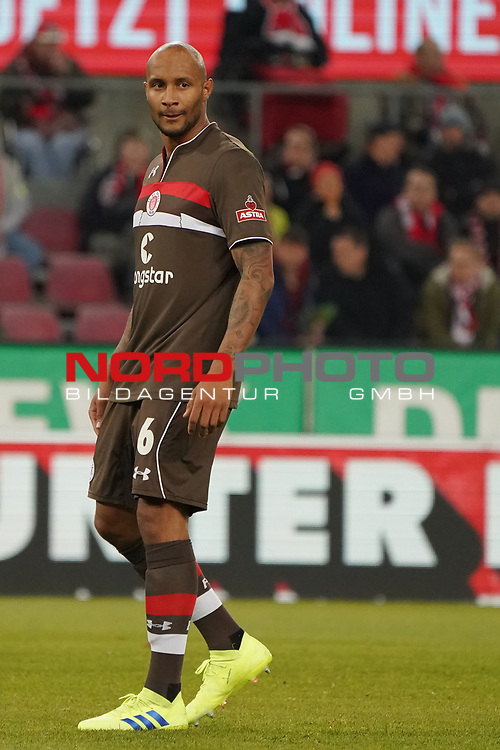 08.02.2019, RheinEnergieStadion, Koeln, GER, 2. FBL, 1.FC Koeln vs. FC St. Pauli,<br />  <br /> DFL regulations prohibit any use of photographs as image sequences and/or quasi-video<br /> <br /> im Bild / picture shows: <br /> Christopher Avevor (St Pauli #6), Einzelaktion, Ganzk&ouml;rper / Ganzkoerper,  <br /> <br /> Foto &copy; nordphoto / Meuter