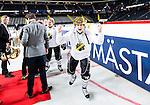 Solna 2014-03-15 Bandy SM-final Damer Kareby IS - AIK  :  <br /> AIK:s Anna M&aring;nsson jublar efter matchen<br /> (Foto: Kenta J&ouml;nsson) Nyckelord:  SM SM-final final dam damer Kareby AIK jubel gl&auml;dje lycka glad happy
