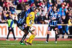 Uppsala 2014-05-01 Fotboll Svenska Cupen IK Sirius - IF Elfsborg :  <br /> Elfsborgs Viktor Prodell i kamp om bollen med Sirius Oscar Pehrsson <br /> (Foto: Kenta J&ouml;nsson) Nyckelord:  Svenska Cupen Cup Semifinal Semi Sirius IKS Elfsborg IFE