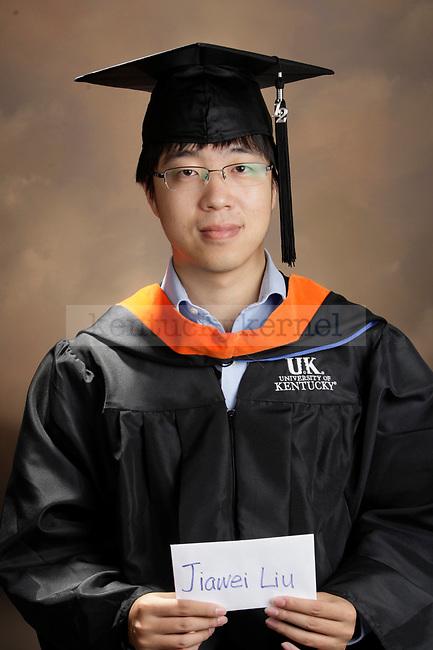 Liu, Jiawei photographed during the October, 2012, Grad Salute in Lexington, Ky.
