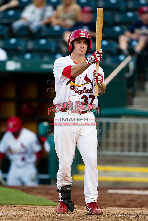 Charles Cutler (37) of the Springfield Cardinals at bat during a game against the Tulsa Drillers at Hammons Field on July 18, 2011 in Springfield, Missouri. Tulsa defeated Springfield 13-8. (David Welker / Four Seam Images)