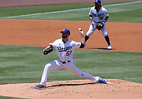 25th July 2020, Los Angeles, California, USA;  Los Angeles Dodgers pitcher Alex Wood (57) throws a pitch during the game against the San Francisco Giants on July 25, 2020, at Dodger Stadium in Los Angeles, CA.