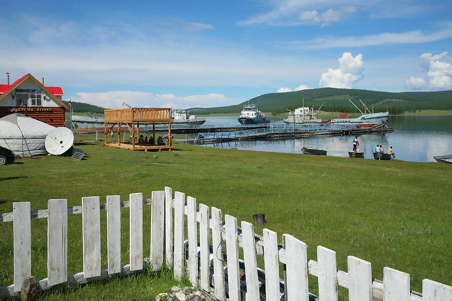 Khatgal Port Lake Khovsgol Mongolia