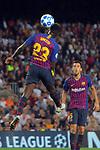 UEFA Champions League 2018/2019 - Matchday 1.<br /> FC Barcelona vs PSV Eindhoven: 4-0.<br /> Samuel Umtiti.