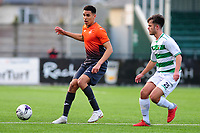 Pictured: Ben Cabango of Swansea City u19's in action during the FAW youth cup final between Swansea City and The New Saints at Park Avenue in Aberystwyth Town, Wales, UK.<br /> Wednesday 17 April 2019