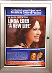 Theatre Marquee for  Christiane Noll, Robert Cuccioli and Linda Eder  performing in 'A New Life' at The Town Hall on October 13, 2012 in New York City.