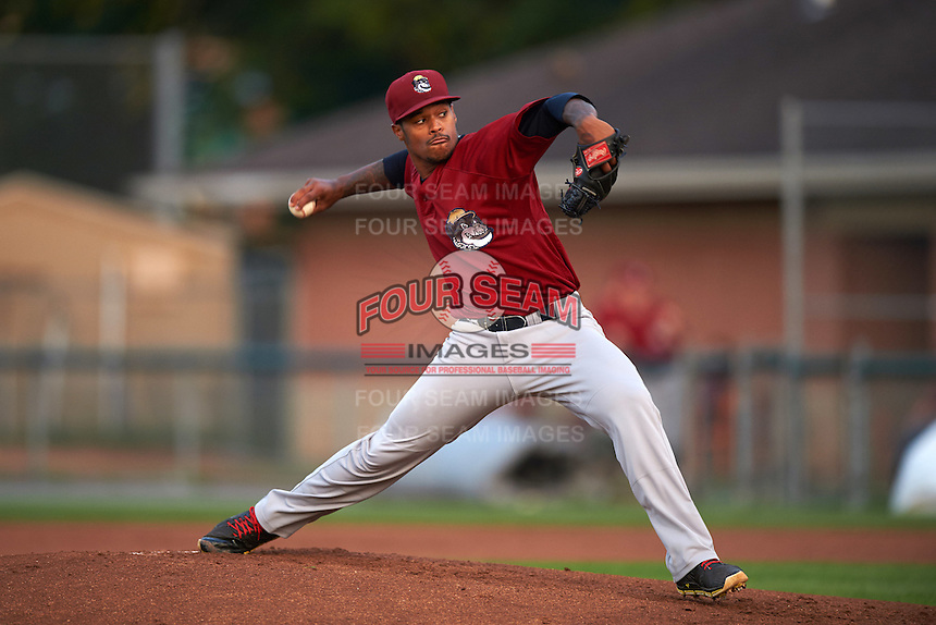 Mahoning Valley Scrappers pitcher Jared Robinson (22) delivers a pitch during a game against the Auburn Doubledays on September 4, 2015 at Falcon Park in Auburn, New York.  Auburn defeated Mahoning Valley 5-1.  (Mike Janes/Four Seam Images)