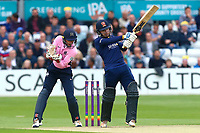 Adam Wheater in batting action for Essex as John Simpson looks on from behind the stumps during Essex Eagles vs Middlesex, NatWest T20 Blast Cricket at The Cloudfm County Ground on 11th August 2017