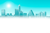 Austin, Texas Skyline faded for ad copy text