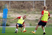 Getafe CF's Carlos Calderon (l) and Johannes Van den Bergh during training session. August 1,2017.(ALTERPHOTOS/Acero) /NortePhoto.com