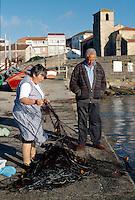 Laxe, Fischereihafen, Galicien, Spanien