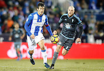 CD Leganes' Martin Mantovani (l) and Celta de Vigo's John Guidetti during La Liga match. January 28,2017. (ALTERPHOTOS/Acero)
