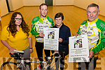 Launching the John O'Shea Memorial Cycle on Friday at the Hall in Dromid were front l-r; Liane Teahan(Group 135), Kieran O'Shea, Joan O'Shea & Mike O'Shea.  The cycle will take place on the 19th March starting from the Dromid Community Centre at 11am, all proceeds raised will go to the Irish Pilgrimage Trust Group 135.