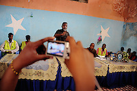 Mogadishu/Somalia 2012 - The Mayor of Mogadishu speaks at a press conference about programs focused on  children living in the streets of Mogadishu.