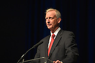 January 2, 2013  (Washington, DC)  D.C. Council member Jack Evans addresses the audience after his swearing-in ceremony at the Washington Convention Center January 2, 2013.  (Photo by Don Baxter/Media Images International)