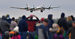 A B-29 Super Fortress takes off from the runway at the Spirt of St. Louis Air Show &amp; STEM Expo held on Saturday October 13, 2018 at the airport located in Chesterfield, MO. <br /> Photo by Tim Vizer