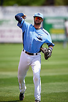 Charlotte Stone Crabs Josh Rapacz warms up before a game against the Lakeland Flying Tigers on April 16, 2017 at Charlotte Sports Park in Port Charlotte, Florida.  Lakeland defeated Charlotte 4-2.  (Mike Janes/Four Seam Images)