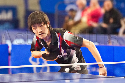 29.01.2011 English Open ITTF Pro Tour Table Tennis from the EIS in Sheffield. Min Seok Kim of Korea