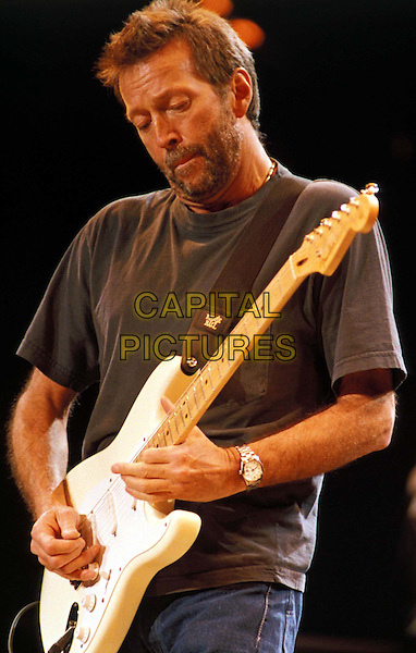ERIC CLAPTON.Ref: 2282.playing guitar, stage, concert, live, half length, half-length.www.capitalpictures.com.sales@capitalpictures.com.© Capital Pictures