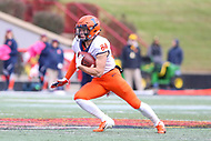 College Park, MD - October 27, 2018: Illinois Fighting Illini wide receiver Jordan Holmes (84) runs the punt during the game between Illinois and Maryland at  Capital One Field at Maryland Stadium in College Park, MD.  (Photo by Elliott Brown/Media Images International)