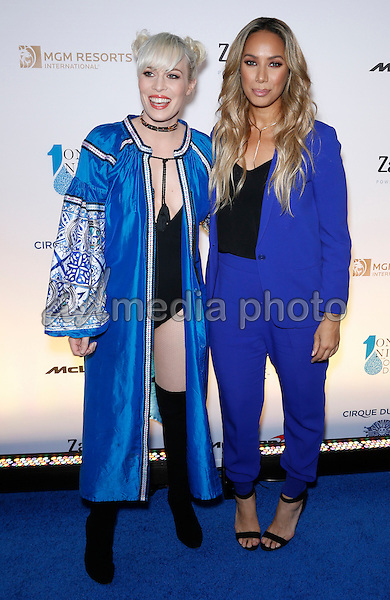 18 March 2016 - Las Vegas, Nevada -  Natasha Bedingfield, Leona Lewis. Cirque Du Soleil presents star-studded blue carpet at Fourth Annual One Night for ONE DROP at the Cleveland Clinic Lou Ruvo Center for Brain Health. Photo Credit: MJT/AdMedia