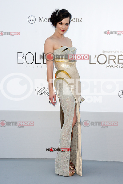 "Milla Jovovich attending the ""On the Road"" Premiere during the 65th annual International Cannes Film Festival in Cannes, France, 23rd May 2012. Milla Jovovich wore a Versace dress...Credit: Timm/face to face, / Mediapunchinc"