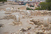 Spain, Alicante, a beach town and historic Mediterranean port. Wheels at Santa Barbara castle on the hill.