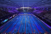 Panoramic view of thee pool during the warm up <br /> Napoli 12-10-2019 Piscina Felice Scandone <br /> ISL International Swimming League <br /> Photo Andrea Staccioli/Deepbluemedia/Insidefoto