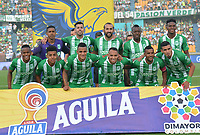 MEDELLÍN-COLOMBIA, 13-10-2019: Jugadores de Atlético Nacional, posan para una foto, antes partido de la fecha 17 entre Atlético Nacional y Rionegro Águilas Doradas, por la Liga Águila II 20117, jugado en el estadio Atanasio Girardot de la ciudad de Medellín. / Players of Atletico Nacional pose for a photo, prior a match of the 17th date between Atletico Nacional and Rionegro Aguilas Doradas, for the Aguila Leguaje II 20117 played at the Atanasio Girardot Stadium in Medellin city. / Photo: VizzorImage / León Monsalve / Cont.