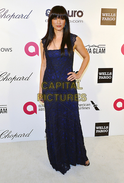 02 March 2014 - West Hollywood, California - Kelly Hu. 22nd Annual Elton John Academy Awards Viewing Party held at West Hollywood Park.  <br /> CAP/ADM/CC<br /> &copy;ChewAdMedia/Capital Pictures