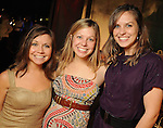 From left: Meghan Miller, Lindsay Dalmolin and Kandice Dalmolin at the Social Book 2010 launch party at Discovery Green Park Thursday Jan. 21,2010.(Dave Rossman/For the Chronicle)