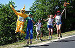 Young fans during Stage 15 of the 104th edition of the Tour de France 2017, running 189.5km from Laissac-Severac l'Eglise to Le Puy-en-Velay, France. 16th July 2017.<br /> Picture: ASO/Bruno Bade   Cyclefile<br /> <br /> <br /> All photos usage must carry mandatory copyright credit (&copy; Cyclefile   ASO/Bruno Bade)