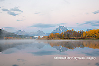 67545-09301 Sunrise at Oxbow Bend in fall; Grand Teton National Park; WY